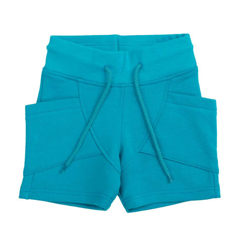 Turquoise Blue College Shorts
