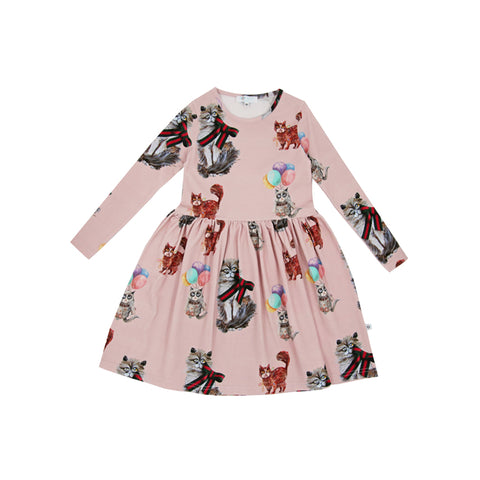 Cilia Pink Cat Dress