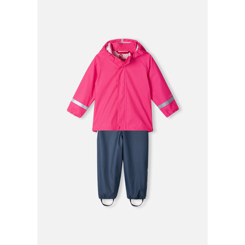 Tihku Two Piece Pink Rain Suit