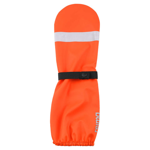 Kura Orange Rain Mittens