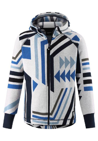 Melange Blue Northern Full Zip Hoodie