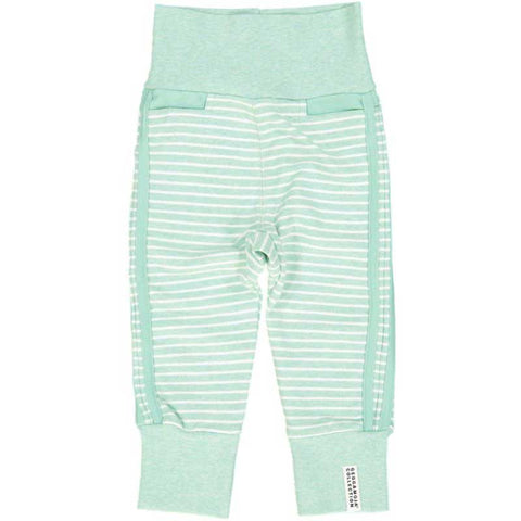 Summer Green Striped Baby Bottoms