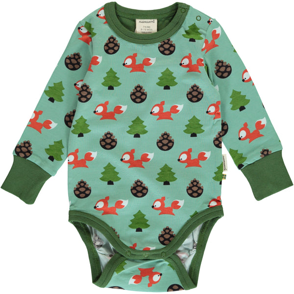 Busy Squirrel Long Sleeve Onesie