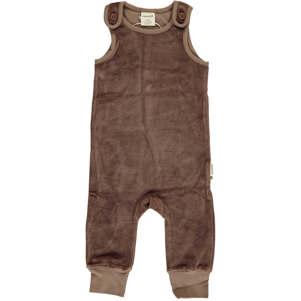 Chocolate Brown Velour Romper