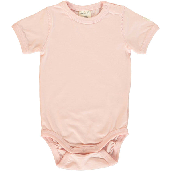 Pale Blush Short Sleeve Onesie