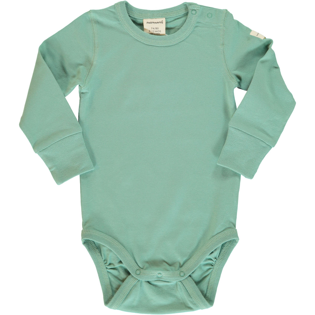 Soft Teal Long Sleeve Onesie