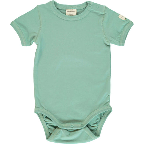 Soft Teal Short Sleeve Onesie