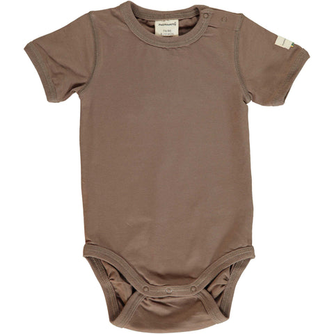 Chocolate Brown Short Sleeve Onesie