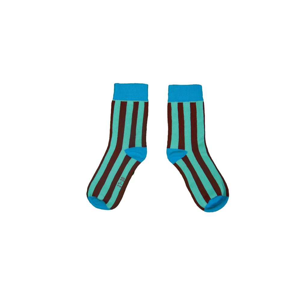 Turquoise and Wine Socks