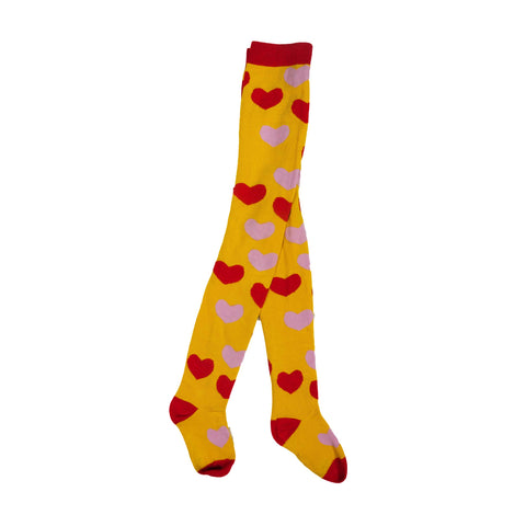 Retro Hearts Tights