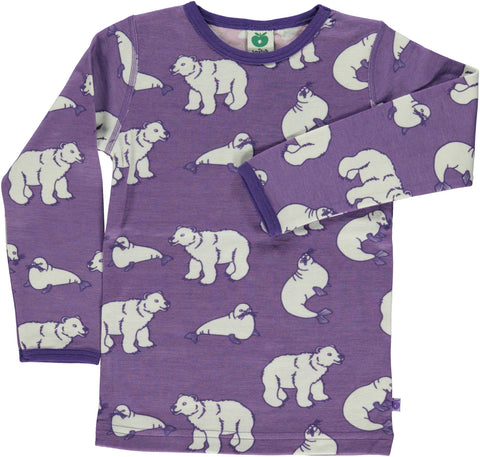 Purple Polar Bear Cotton/Wool Shirt