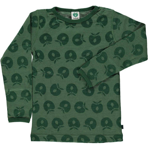 Hunter Green Merino Wool Shirt