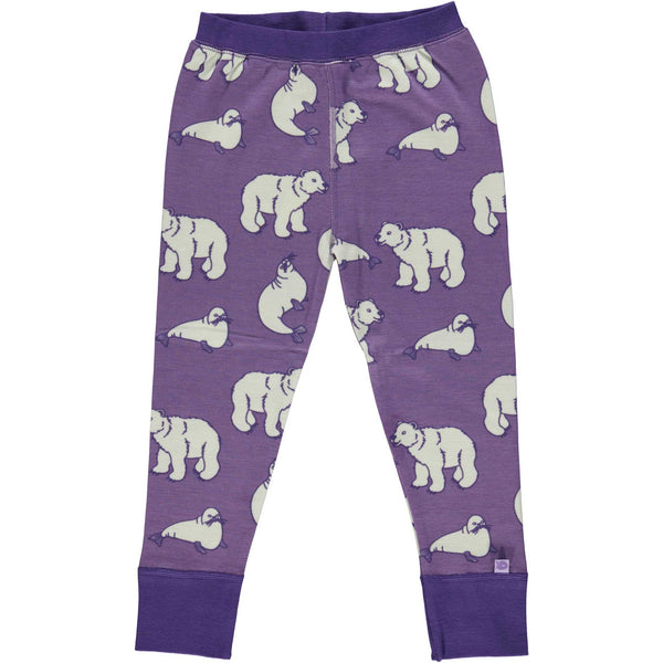 Purple Polar Bear Cotton/Wool Pants