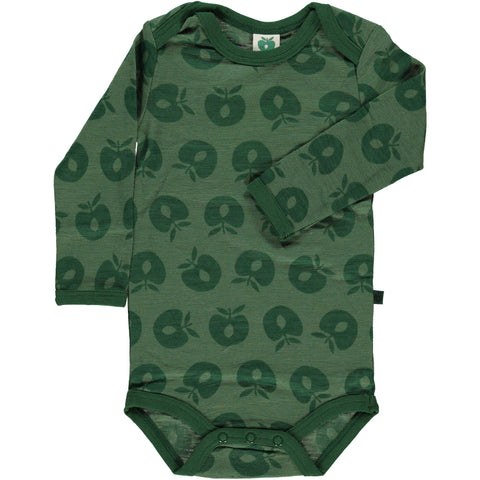 Merino Wool Apple Onesie