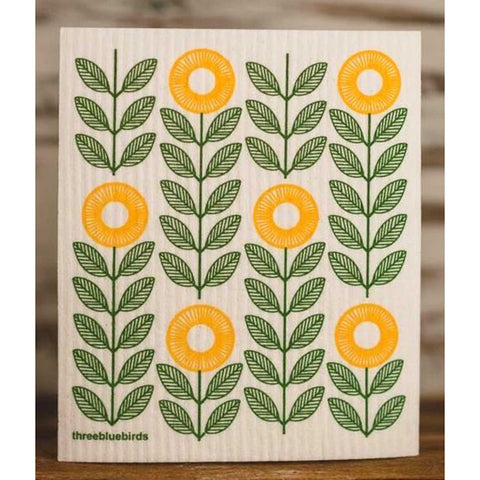 Sunflowers Swedish Dishcloth