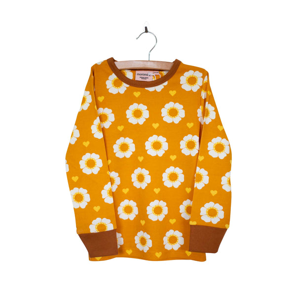 70's Flower Long Sleeve Top