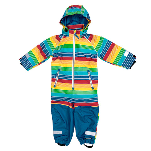 Multicolor Striped Outerwear Suit