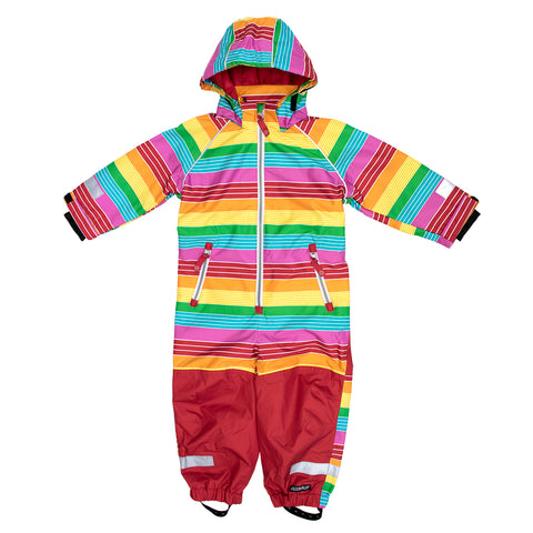 Multicolor Rainbow Outerwear Suit