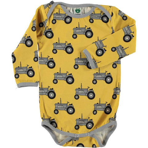 Yellow Tractor Onesie