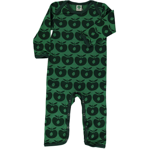 Hunter Green Apple Romper