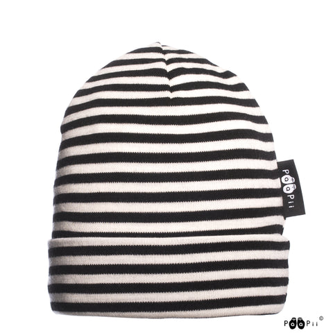 Merino Wool Striped Beanie