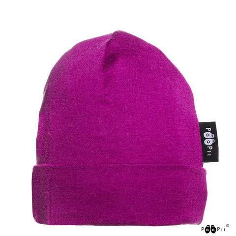 Merino Wool Purple Beanie
