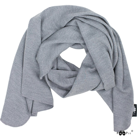 Adult Grey Merino Scarf