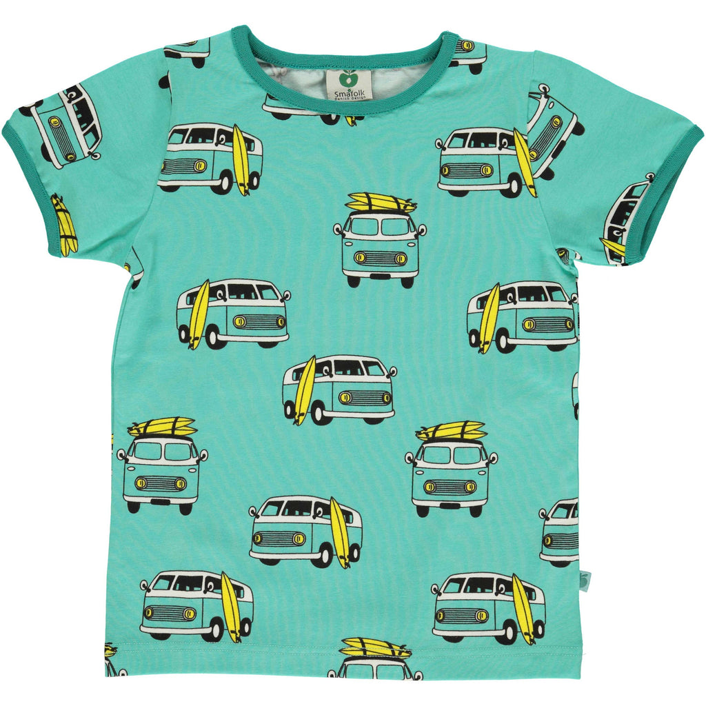 Mint Green Surf Car T-Shirt