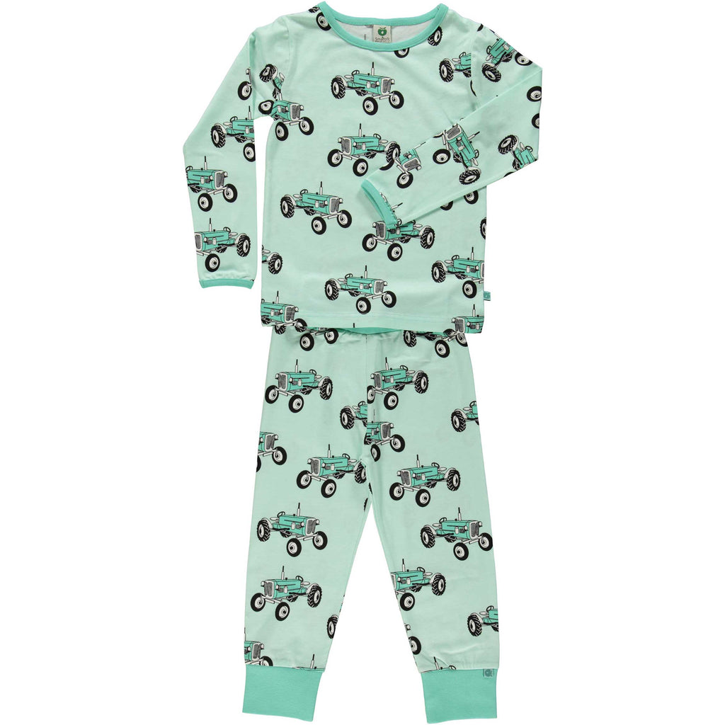 Mint Green Tractor Pajamas