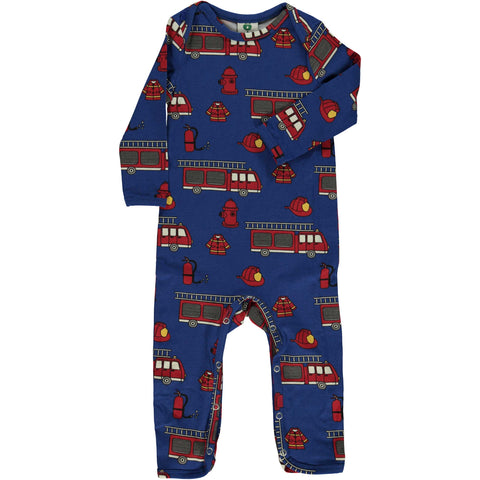 Blue Fire Truck Romper