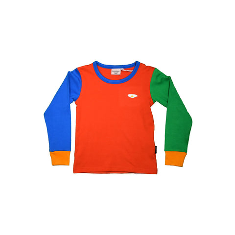 Waste Red/Green/Blue Long Sleeve Top