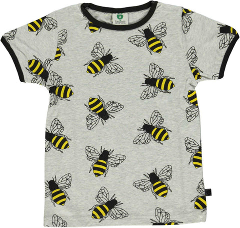 Grey T-Shirt with Bees