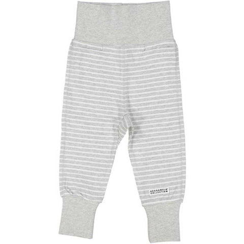 Classic Grey Striped Baby Bottoms