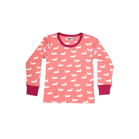 Pink Duck Pond Long Sleeve Top