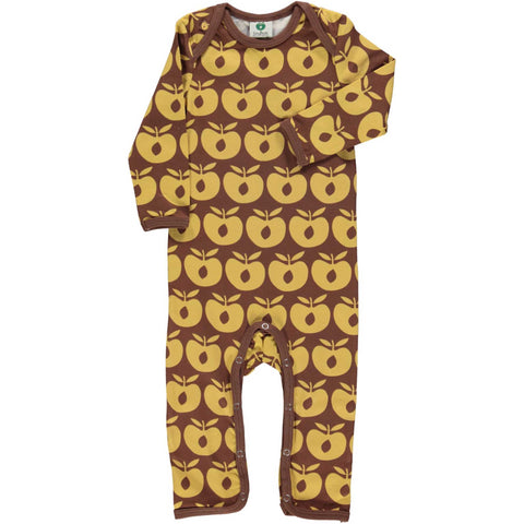 Brown Retro Apple Romper