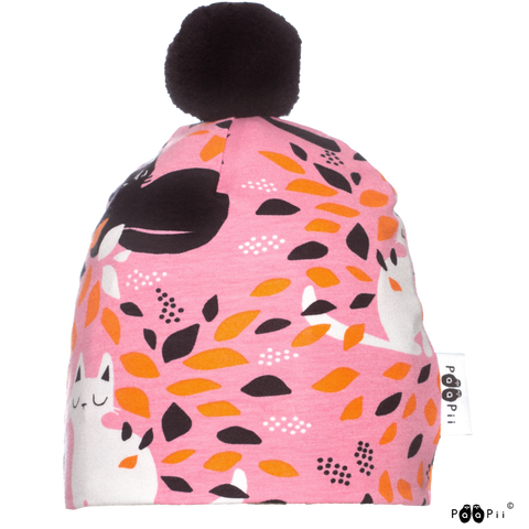 Pom Pom Hide and Seek Beanie