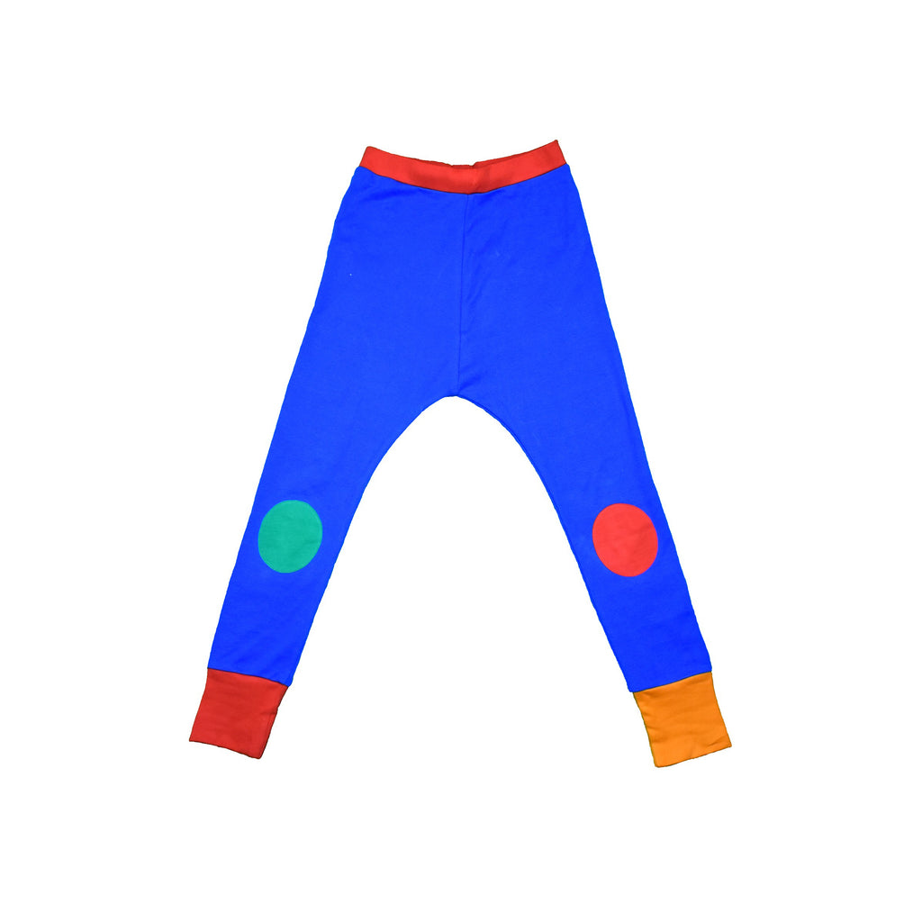 Blue Knee Patch Waste Pants