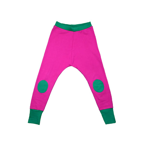 Pink & Green Knee Patch Waste Pants
