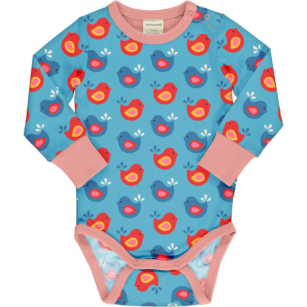 Bright Birds Long Sleeve Onesie