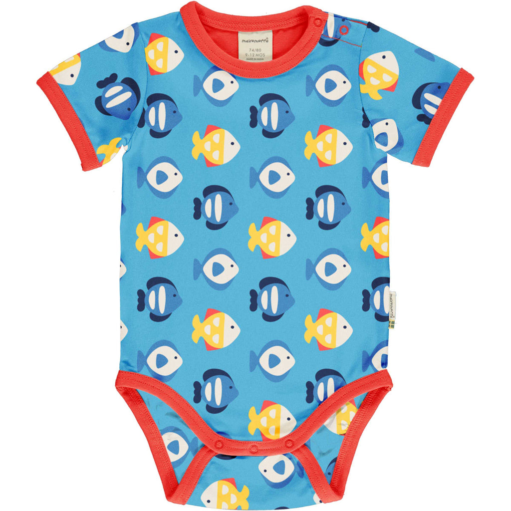 Tropical Aquarium Short Sleeve Onesie
