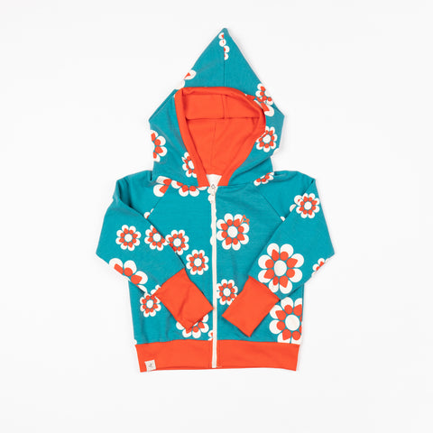 Biscay Bay Flower Heaven Zip Sweatshirt