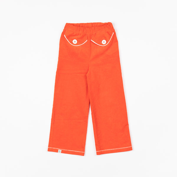 Spicy Orange Flower Power Pants