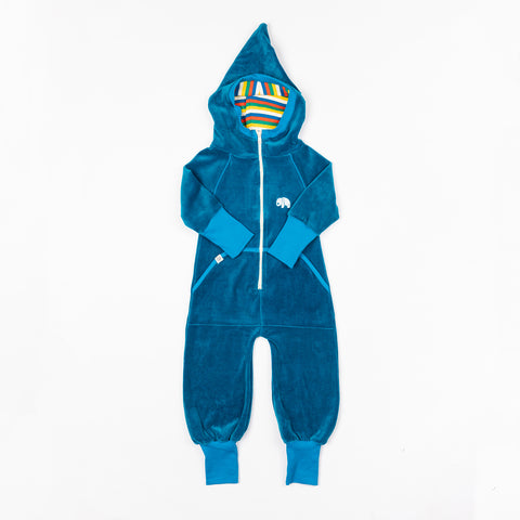 Turkish Tile Blue Jumpsuit