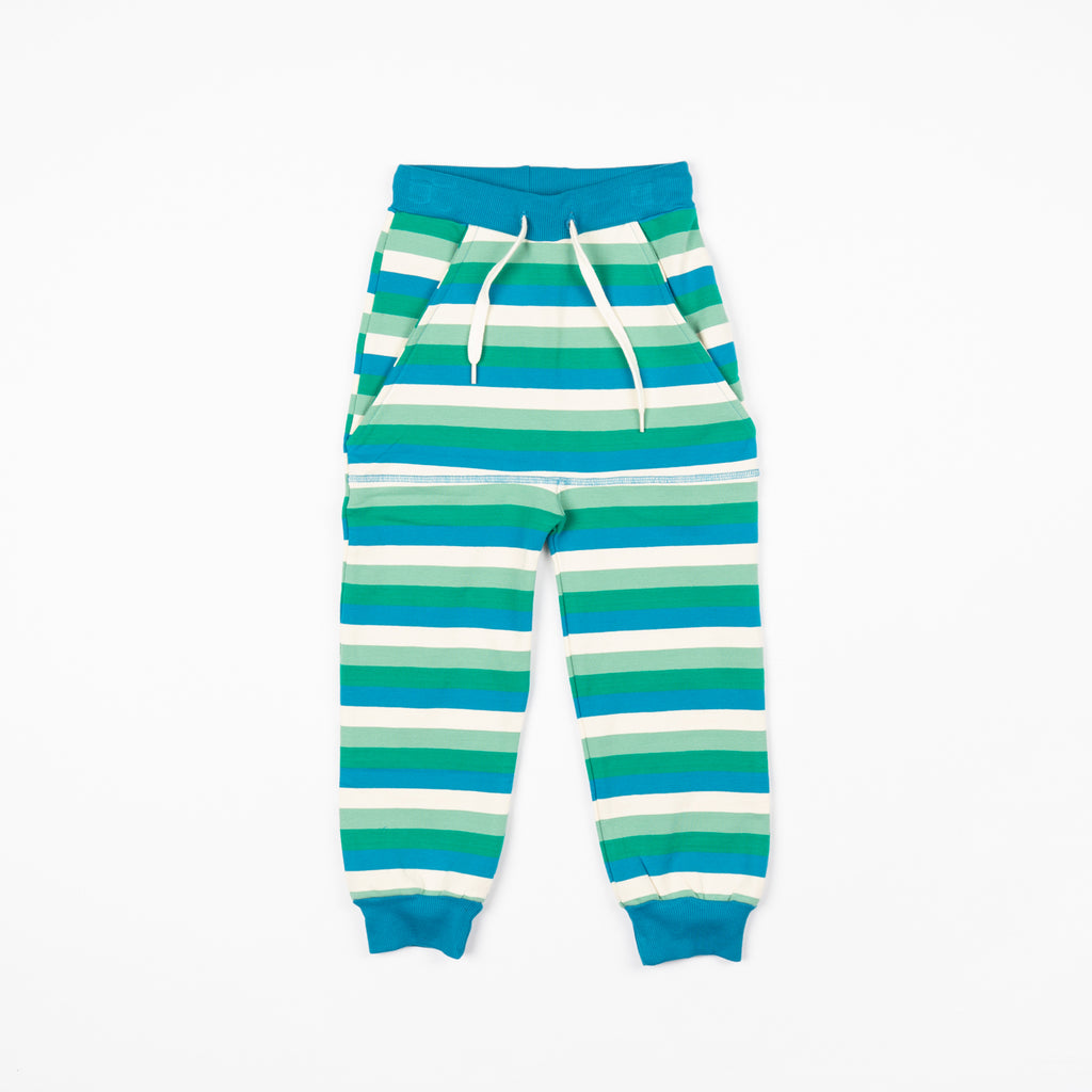 Kristoffer Creme De Menthe Striped Pants