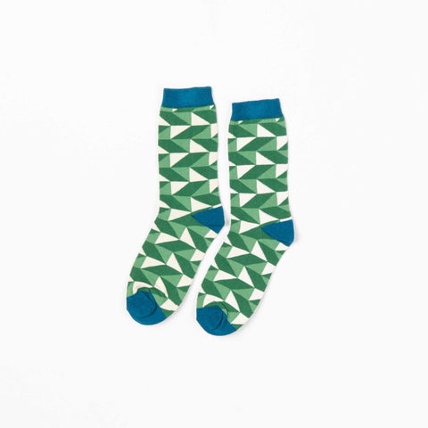 Juniper Triangle Socks