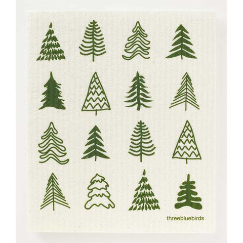 Woodland Trees Swedish Dishcloth