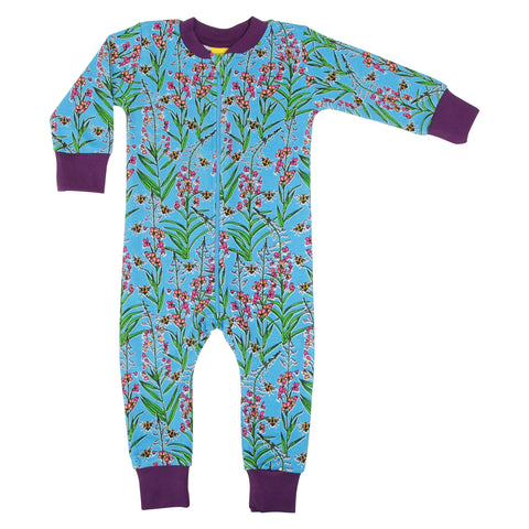 Willowherb Blue Zip Suit