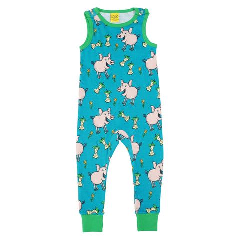 Teal Pig Dungaree