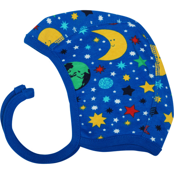 Blue Mother Earth Baby Bonnet