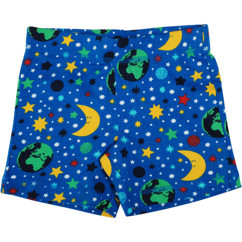 Blue Mother Earth Shorts